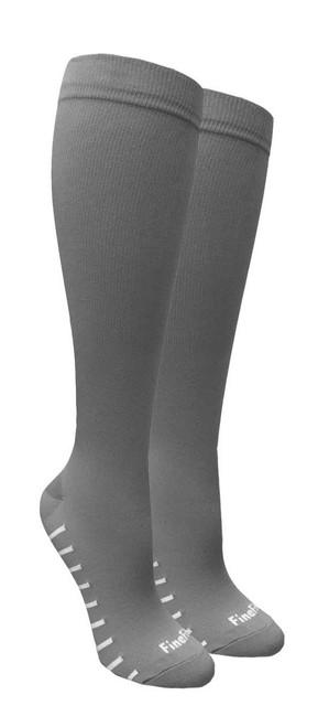 Compression Socks - Grey (Size: 9-11, 10-13) - 1 dozen