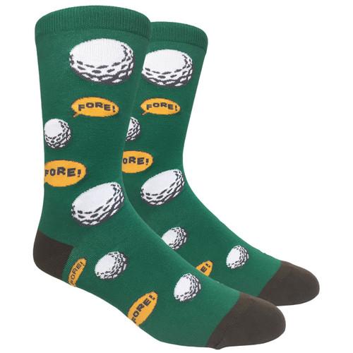 FineFit Novelty Socks - Fore! (NV070B) - 1 Dozen