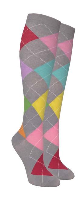 Compression Socks - Grey/Color (Size: 9-11) - 1 dozen
