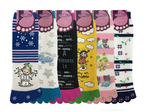 Non Skid Toe Socks - (1 Dozen)