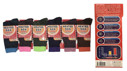 Thermal Socks - Assorted Colors (1 dozen)