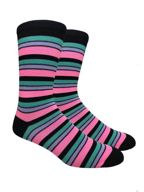 FineFit Stripe Dress Socks (SD510) - 1 Dozen
