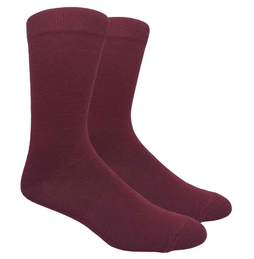 FineFit Plain Dress Socks - Burgundy - 1 Dozen