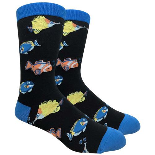 FineFit Novelty Socks - Tropical Fish - (NV093B) - 1 Dozen