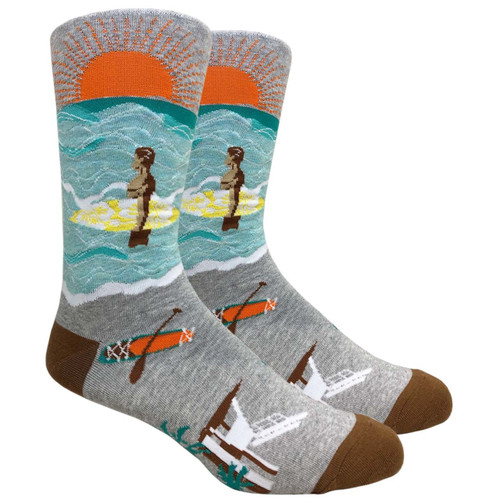 FineFit Novelty Socks - Surf's Up - (NV094A) - 1 Dozen