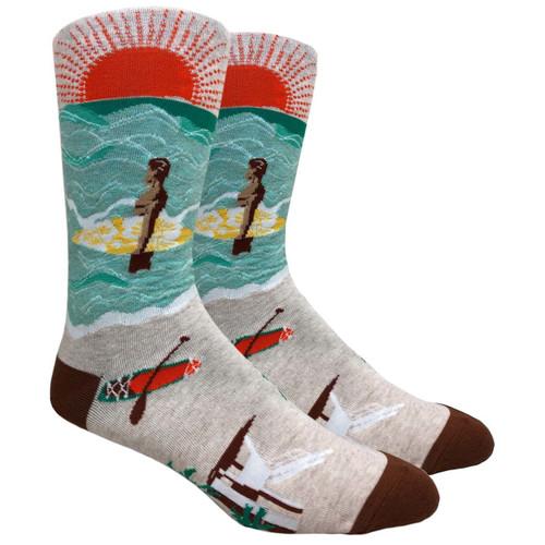 FineFit Novelty Socks - Surf's Up - (NV094B) - 1 Dozen