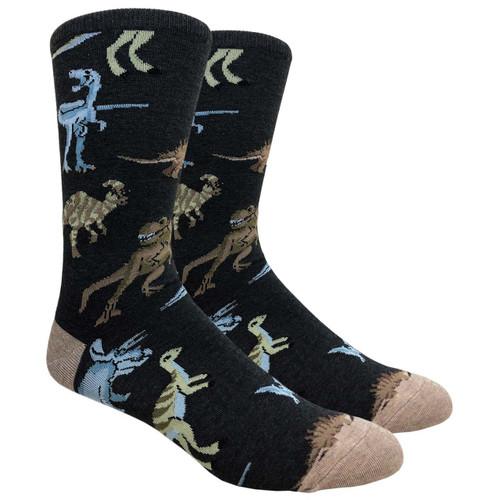 FineFit Novelty Socks - Dinosaurs - (NV096) - 1 Dozen