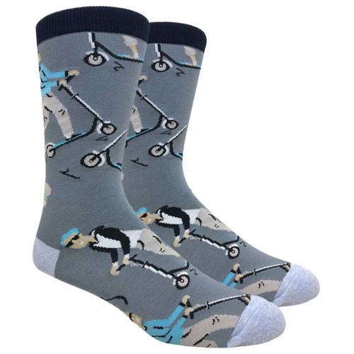 FineFit Novelty Socks - Scooter Man - (NV097) - 1 Dozen