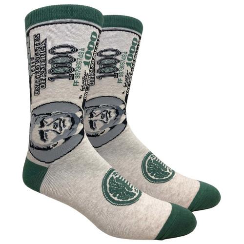 FineFit Novelty Socks - $1000 Trump - (NV098) - 1 Dozen