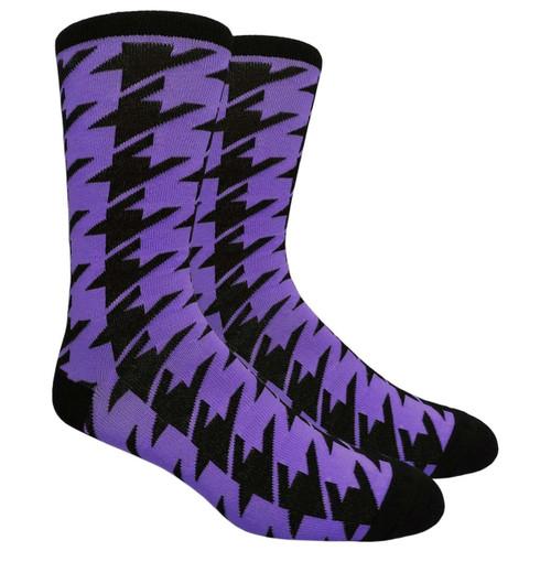 Finefit Houndstooth Dress Sock - Purple (1 Dozen)