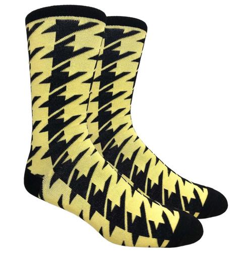 Finefit Houndstooth Dress Sock - Yellow (1 Dozen)