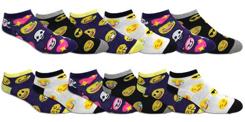 Fun Socks Spandex - Emoji // 1 CASE (30 DZ) - $2.55/DZ