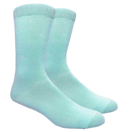FineFit Black - Plain Dress Socks - Sky Blue - 1 Dozen