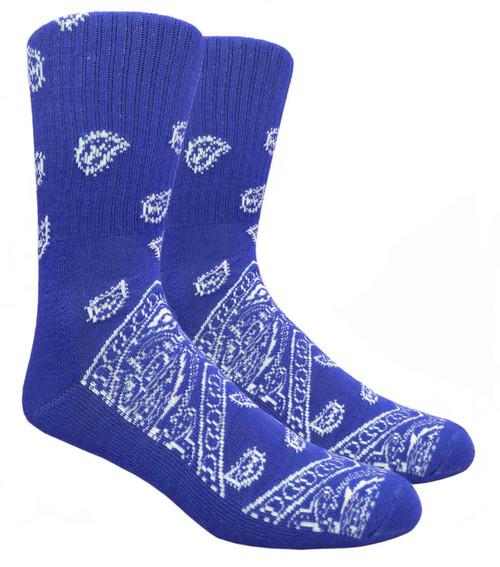 Mad Toro Bandana Socks - Royal Blue (TRB06) - 1 Dozen