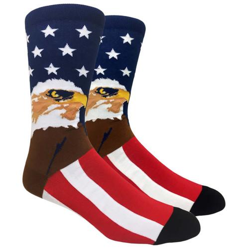 FineFit Novelty Socks - American Eagle (NV039) - 1 Dozen