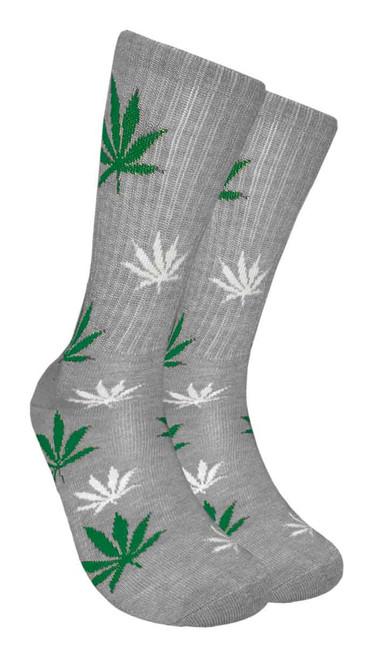 Mad Toro Marijuana Design Crew Socks (TR002)