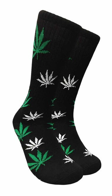 Mad Toro Marijuana Design Crew Socks (TR004)