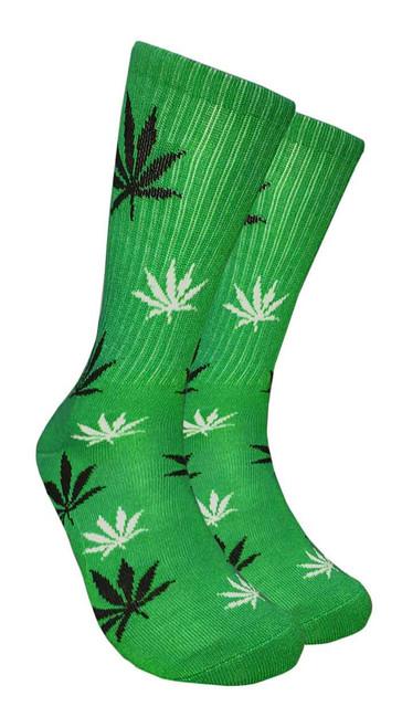 Mad Toro Marijuana Design Crew Socks (TR006)