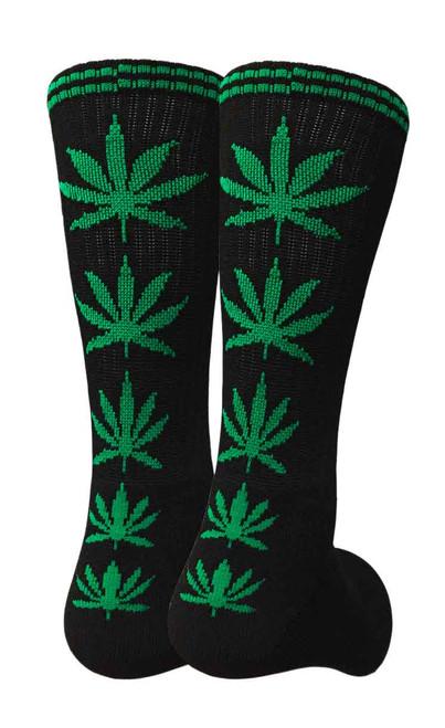 Mad Toro Marijuana Design Crew Socks (TR008)