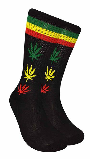 Mad Toro Marijuana Design Crew Socks (TR010)