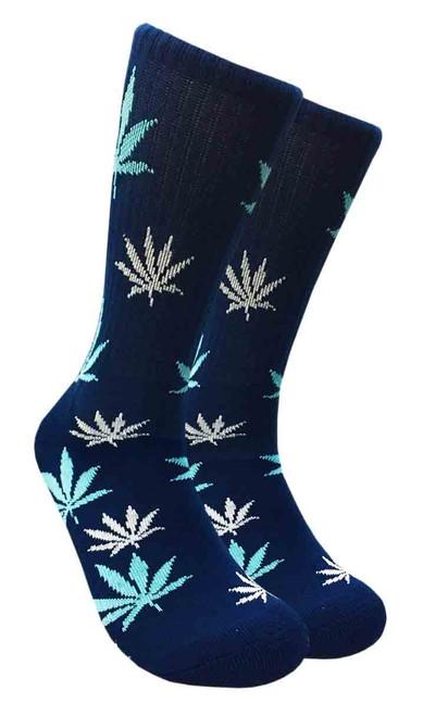 Mad Toro Marijuana Design Crew Socks (TR018)