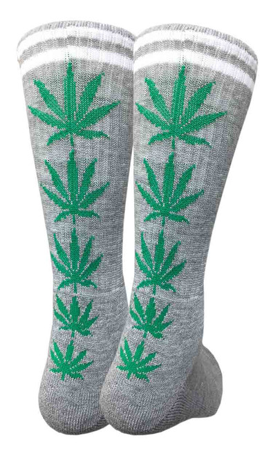 Mad Toro Marijuana Design Crew Socks (TR028)