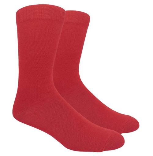 FineFit Plain Dress Socks - Red - 1 Dozen