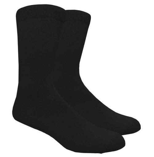 FineFit Plain Dress Socks - Black - 1 Dozen