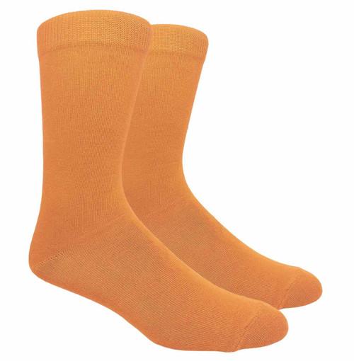 FineFit Plain Dress Socks - Tangerine - 1 Dozen