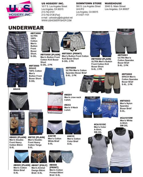 Men's underwear catalog