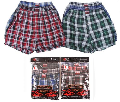 Brave Boxer Shorts (Size: S-3XL) - 1 Dozen