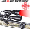 WICKED LIGHTS A48IC RED NIGHT HUNTING LIGHT KIT FOR COYOTE, HOG, FOX, BOBCAT, VARMINT