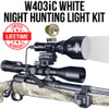 WICKED LIGHTS W403IC WHITE NIGHT HUNTING LIGHT KIT FOR HOGS, COYOTE, FOX, PREDATORS AND VARMINTS