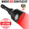 Wicked Lights W403iC Red Scan Plus Night Hunting Light Kit for hog, coyote, and predators