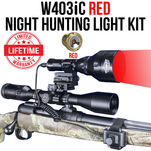 WICKED LIGHTS W403IC RED NIGHT HUNTING LIGHT KIT FOR COYOTE, HOG, FOX, PREDATOR, VARMINTS