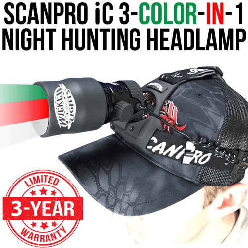 Wicked Lights ScanPro iC 3-N-1 Night Hunting Headlamp