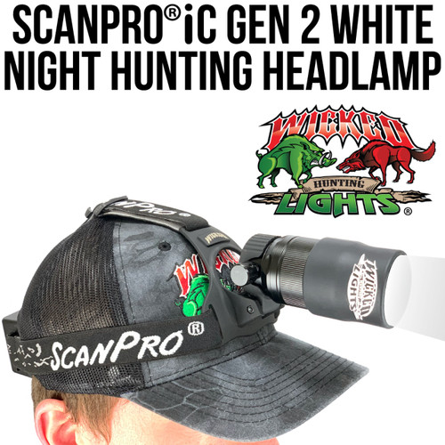 WICKED LIGHTS SCANPRO® IC GEN 2 WHITE NIGHT HUNTING HEADLAMP KIT