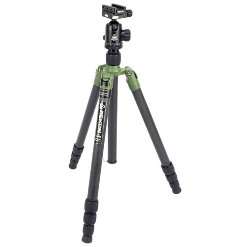 REKON OUTDOOR GEAR™ CT-1 CARBON FIBER AMBUSH™ TRIPOD WITH BH-1 BALL HEAD AND RTA1 PICATINNY TO ARCA-SWISS MOUNT R003