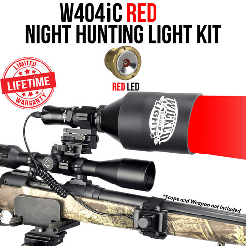 WICKED LIGHTS® W404IC RED NIGHT HUNTING KIT FOR COYOTE, HOG, PREDATOR
