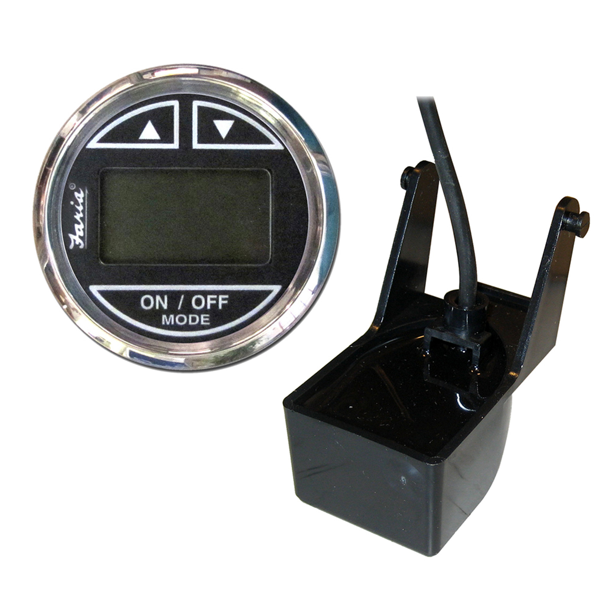 Faria Transom Mount Transducer 235Khz 26/' Cable Low Profile