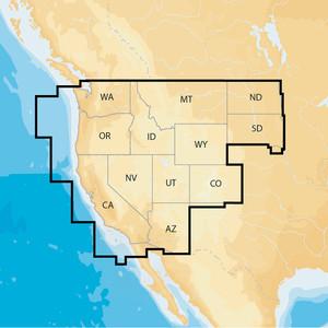 Navionics Navionics+ Regions - West - Preloaded MSD Format [MSD\/NAV+WE]