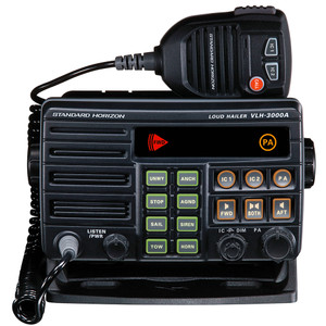 Standard Horizon VLH-3000A 30W Dual Zone PA\/Loud Hailer\/Fog w\/Listen Back & 2 Optional Intercom Stations [VLH-3000A]