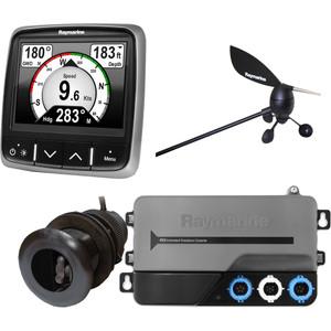 Raymarine i70s System Pack w\/Color Instrument  Wind, DST Transducers, iTC-5, 3M Backbone, T-Piece, Power  2 Backbone Terminators [T70216]