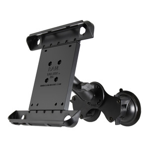 RAM Mount Double Twist-Lock Suction Cup Mount w\/Tab-Tite Universal Spring Loaded Cradle f\/Apple iPad 1-4 w\/or w\/o Light Duty Case [RAM-B-189-TAB3U]