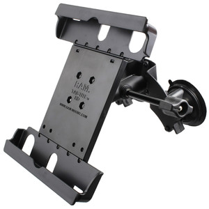RAM Mount Dual Suction Cup Mount w\/Retention Knob  Large Tab-Tite Universal Tablet Holder [RAM-B-189-TAB20-ALA1-KRU]