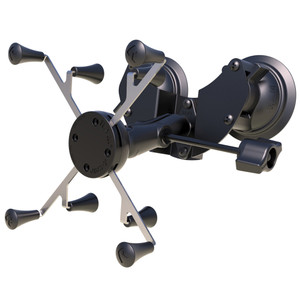 "RAM Mount Dual Suction Cup Mount w\/Retention Knob  Universal RAM X-Grip Holder f\/7-8"" Tablets [RAM-B-189-UN8-ALA1-KRU]"