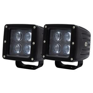 """Heise 3"""" 4 LED Cube Light - 2-Pack [HE-ICL2PK]"""