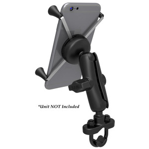 RAM Mount Handlebar Rail Mount w\/Zinc Coated U-Bolt Base  Universal X-Grip Large Phone\/Phablet Cradle [RAM-B-149Z-UN10U]