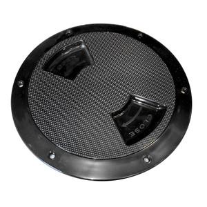 "Sea-Dog Quarter-Turn Textured Deck Plate w\/Internal Collar - Black - 5"" [336357-1]"