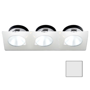 i2Systems Apeiron A1110Z - 4.5W Spring Mount Light - Triple Round - Cool White - White Finish [A1110Z-36AAH]